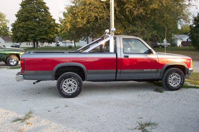 Ca B C E D F B F A X on 1991 Dodge Dakota Red